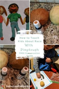 Use play dough to talk with young children about race while having fun. This is the perfect activity for Martin Luther King Day or just raising racial awareness in your own kids. #diyplaydough #race #mlkday