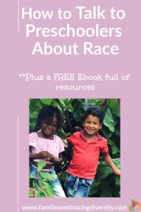 Learn how to talk to preschoolers about race so that you can raise empathetic, race conscious kids from the start #kids #race #mlk day