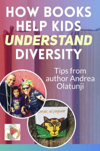 Author Andrea Olatunji shows us how we can use books to help kids understand diversity, reinforce a child's second language, or teach them a second language, and answer our kid's tough questions. #diversebooks #spanishforkids