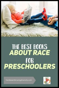 Talk with your kids about race from the beginning. These are the best books about race for preschoolers. They will help you spark meaningful conversations with your child about race and equality. Plus there is a free conversation guide and extension activities #picturebooks #read #race #free
