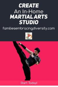 Looking for a good way to burn off energy from home while keeping your kids safe? Consider creating an in-home martial arts studio.